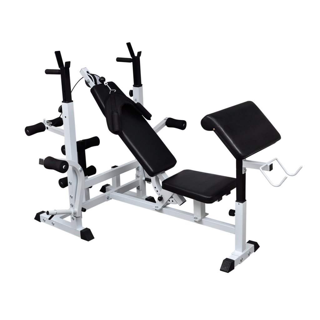 Daonanba Durable Sturdy Steel Multi Use Weight Bench Safe Workout Weight Bench