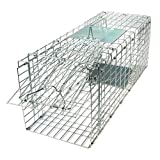 Gardigo Animal Trap | Easy to Set Humane Trap | Small Cage for Marten, Fox, Weasel and Raccoon | Transport Cage for Dogs and Cats | 66 x 23 x 26 cm