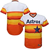 Houston Astros MLB Mens Cooperstown V Neck Jersey White Big & Tall Sizes