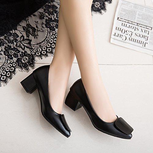 un trabajar con Atar Negro Xue para altos mujer zapato antideslizante punto de un de Qiqi tacones es zapatos negra negrita luz rHH0IqR