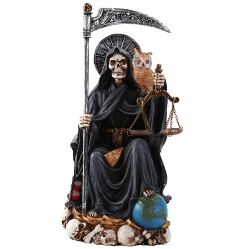 Pacific Giftware Santa Muerte Saint of Holy Death Seated Religious Statue 9 Inch Protection -