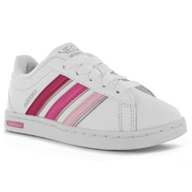 1e4b94567b7 Kids Adidas Neo Derby K Girls Leather Trainers UK Child Size 10 NEW *Free  Postage*: Amazon.co.uk: Shoes & Bags