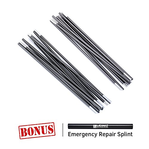 WEANAS Aluminum Rod Tent Pole Replacement Accessories (2 Poles, 14'2