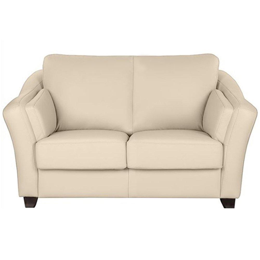 Furny Casagrande Two Seater Leatherette Sofa (Cream)