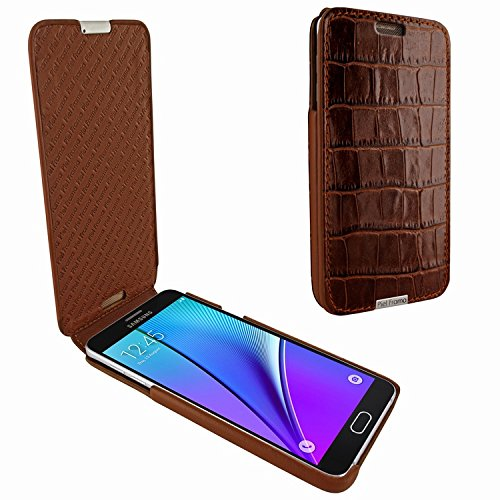 Piel Frama 721 Brown Crocodile iMagnum Leather Case for Samsung Galaxy Note 5 by Piel Frama (Image #4)