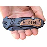 TAC-FORCE TF606WS Engraved Tactical Assisted Opening Pocket Knife - Fathers Day Gifts, Perfect Personalized for Him - Christmas Gifts, Groomsmen Gifts & Anniversary Gifts for Men, Black