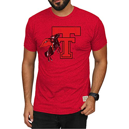 - Elite Fan Shop Texas Tech Red Raiders Retro Tshirt Red - XXL