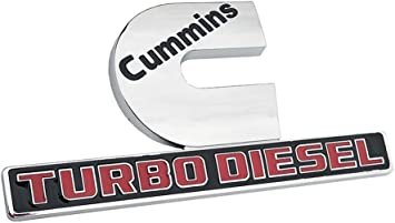 Cummins Turbo Diesel Emblems,Small Size 3D Decal Badges for RAM 2500 3500 Red