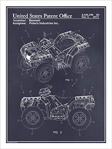 laris ATV All Terrain Vehicle Patent Print Art Poster UNFRAMED Blackboard 18