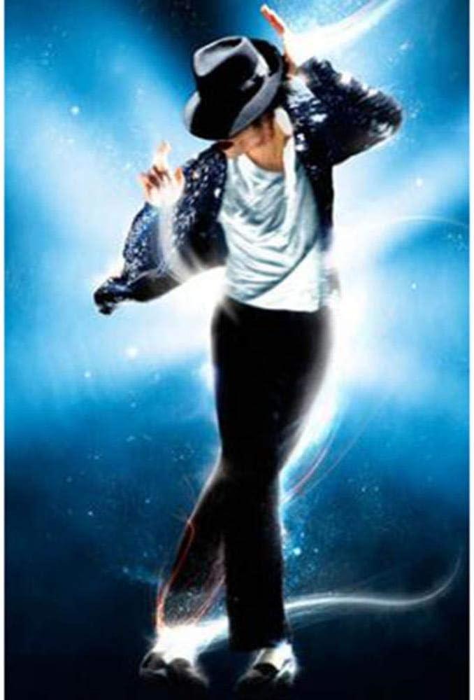 5D Diy Full Diamond Mj Michael Jackson de Late King of Pop Diy Bordado Diamante Pintura Home Decorate Best Year Gift 30cmx40cm