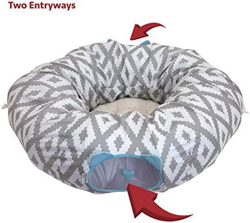 Kitty City Large Cat Tunnel Bed, Cat Bed, Pop Up Bed, Cat Toys, Christmas Tree 7