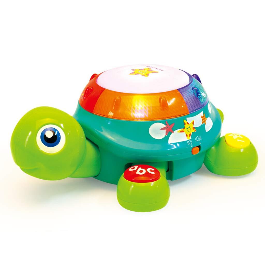 LIPENG-TOY Tamburo strisciante Battito della Mano del Bambino Tamburo Musicale Camminerà per Bambini Apprendimento Elettrico Scansione di Giocattoli educativi di 1-3 Anni (colore   verde)