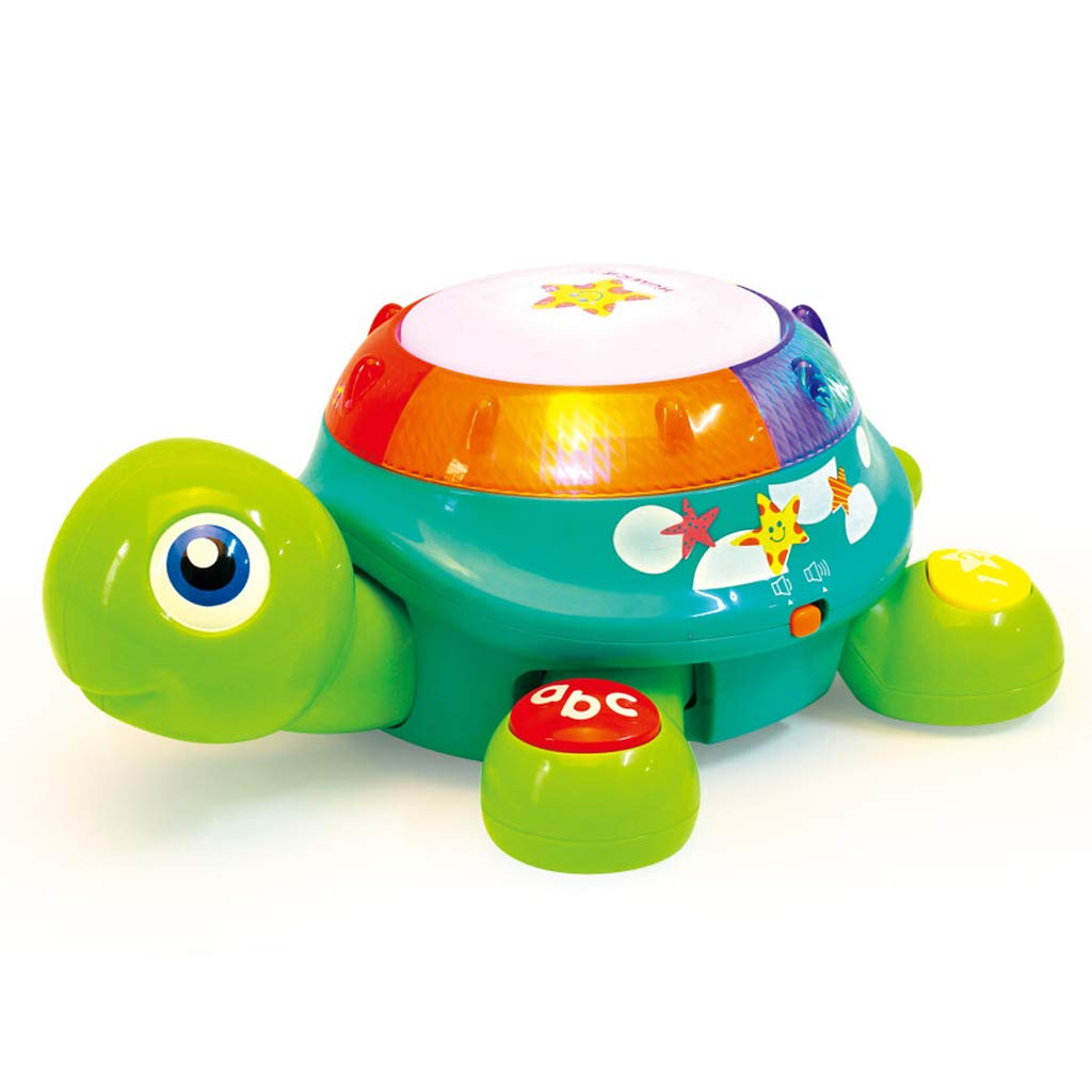LIPENG-TOY Crawling Turtle Baby Hand Beat Music Drum Will Walk Children Electric Learning Crawling 1-3 Years Old Educational Toys (Color : Green)
