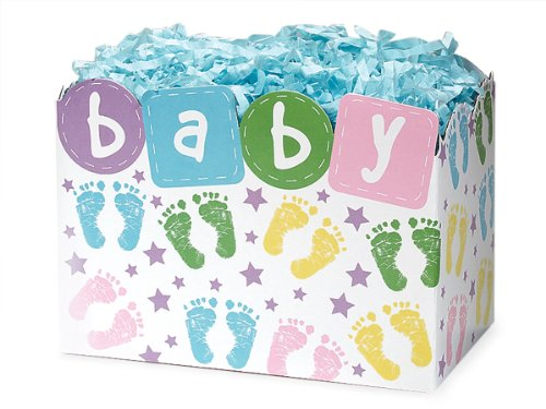 (Special Occasion Baskets Boxes - Small Baby Steps Basket Boxes 6-3/4x4x5