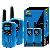 DILISS Walkie Talkies for Kids Voice Activated Walkie Talkies for Adults and Kids 3 Mile Range 2 Way Radio Walkie Talkies Built in Flash Light 2 Pack - Blue
