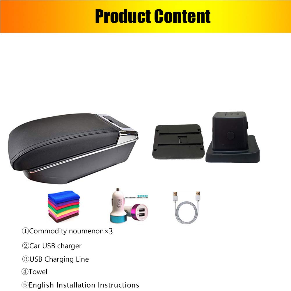 Great-luck High quality Center Console Armrest Box Car Accessories with Cup Holder Ashtray Accessories for Nissan Kicks 2016 2017 2018 2019 2020
