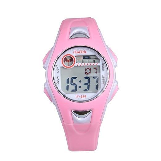 Cebbay Reloj para niños Niños Niñas Imported Unisex Natación Deportes Digital Reloj de pulsera Impermeable Rojo