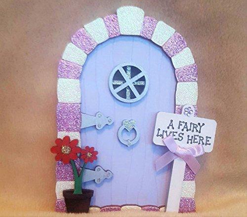 Handpainted Glitter Arch Wooden Magical Fairy Faerie Elf pixie (Faerie Door)