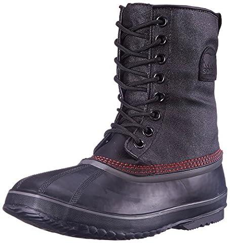 Sorel Men's 1964 Premium T CVS Snow Boot, Black, Sail Red, 8 D US
