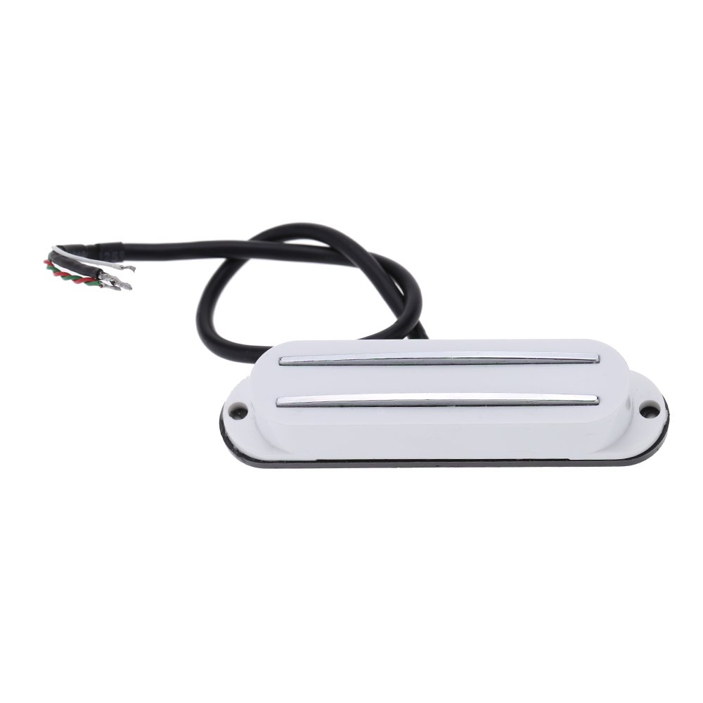 ammoon Dual Hot Rail Single Coil Humbucker Pickup 4 Wire for Electric Guitar