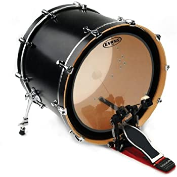 evans emad2 clear bass drum head 24 externally mounted adjustable damping system. Black Bedroom Furniture Sets. Home Design Ideas