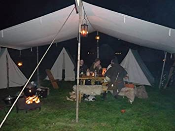 10ft x 10ft tarp TARPAULIN pre meal civil war canvas tent for Living history Reenactment bell & 10ft x 10ft tarp TARPAULIN pre meal civil war canvas tent for ...