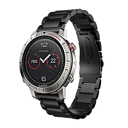 SportHome Stainless Steel Bracelet Smart Watch Band Strap for Garmin Fenix Chronos