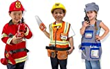 Melissa & Doug Role Play Bundle (Fire Chief, Construction Worker, Train Engineer)