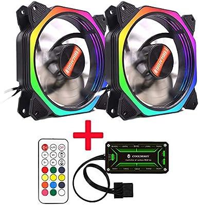 Acutty Rainbow Lights RGB Ajustable Color Fan 12 cm LED Ordenador ...