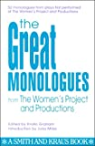 The Great Monologues from the Women's Project, N. Y.) Women's Project (New York, 1880399350