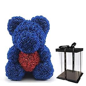 EAPTS Artificial Flowers Rose Bear PE Foam Flower Teddy Bears Valentine Birthday Gifts 83