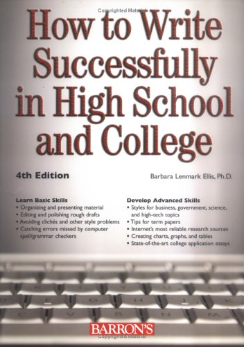 How to Write Successfully in High School and College (Barron's Educational)