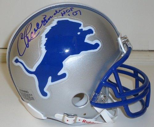 Charlie Sanders Autographed Detroit Lions Mini Helmet inscribed