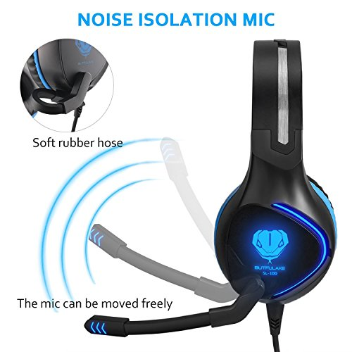 Gaming Headset for PS4 Xbox One Headsets Stereo Over-Ear