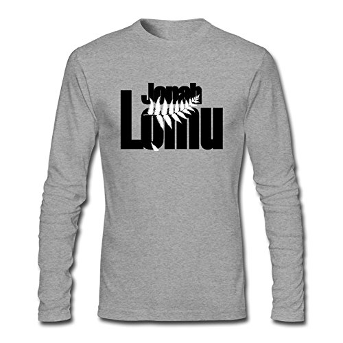 IIOPLO Men's Jonah Lomu Rugby Union Player Long Sleeve T-shirt Grey S