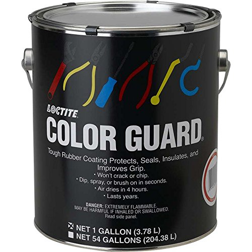 Color Guard, Tough Rubber Coating, Red