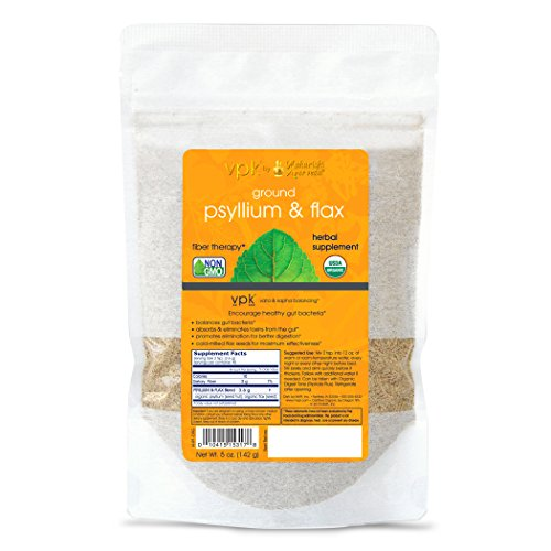 Organic Psyllium & Flax - Kulreet Chaudhary The Prime | 5 oz. (142g) | Balances Gut Bacteria | Cold-Milled Flax Seeds for Maximum Effect | Promotes Better Elimination