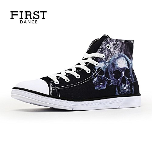 High For up Walking Lace Canvas Sneaker Summer Print Girls Skull Women FIRST DANCE Top Cool qwT0RR87
