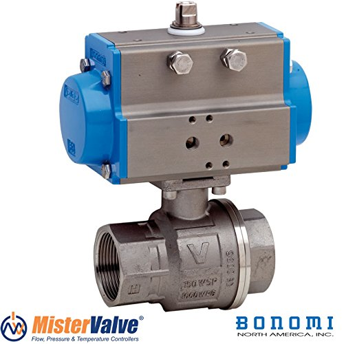 Bonomi 8P0134 Stainless Steel Ball Valve Pneumatic Actuated With Spring Return Actuator Size 1