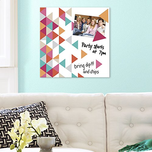 RoomMates CNV8077SQ Multi Triangle Canvas, 13.75
