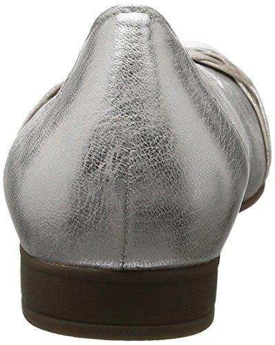Kombi Plateado Gabor Mujer Bailarinas Comfort Silber 61 RUxxwOS8