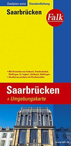Falk Stadtplan Extra Standardfaltung Saarbrücken
