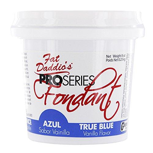 Fat Daddio's Fondant, True Blue, 8 oz, Vanilla Flavor