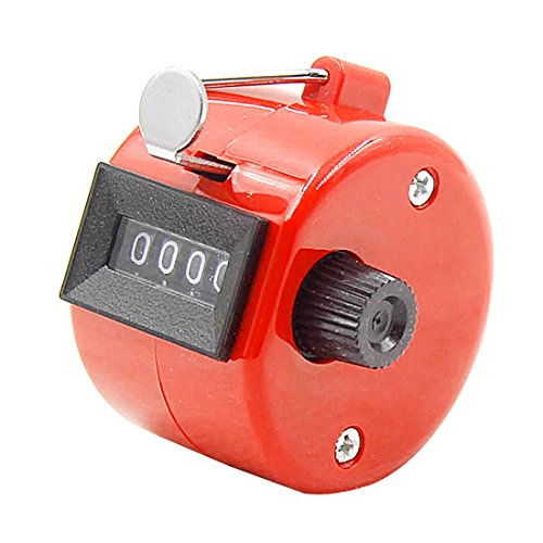 LOCHI Digital Hand Tally Counter 4 Digit Number Hand Held Tally Counter Plastic Shell Manual Counting Golf Clicker 100%''NEW by LOCHI
