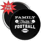CafePress - Family Faith Football - 2.25'' Magnet (100 pack)