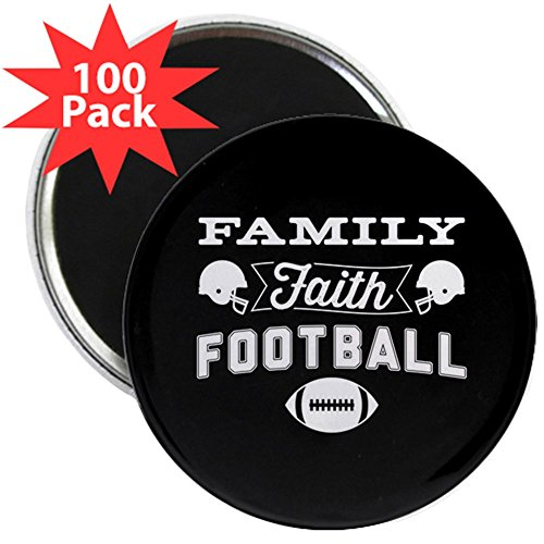 CafePress - Family Faith Football - 2.25'' Magnet (100 pack) by CafePress