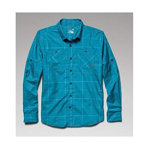 Under Armour UA Chesapeake LS Plaid Shirt - Men's Elemental Plaid / Ceylon Medium