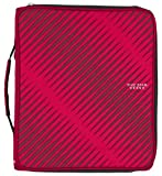 Five Star 2 Inch Zipper Binder, 3 Ring Binder, 6-Pocket Expanding File, Durable, Red (72184)