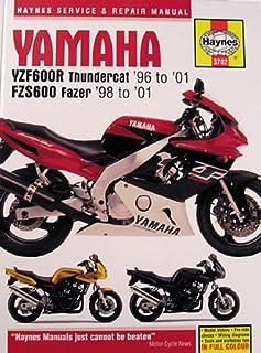 haynes yamaha yzf600r thundercat 96 00 fzs600 fazer 98 00 rh amazon com 2000 Yamaha YZF600R Exhaust 2000 Yamaha YZF 600