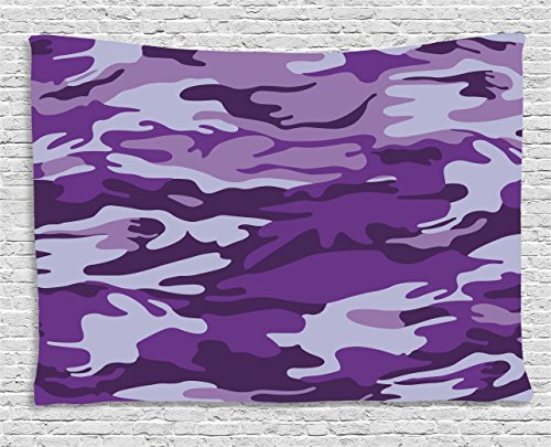Camouflage Tapestry, Vibrant Color Abstract Style Splashes